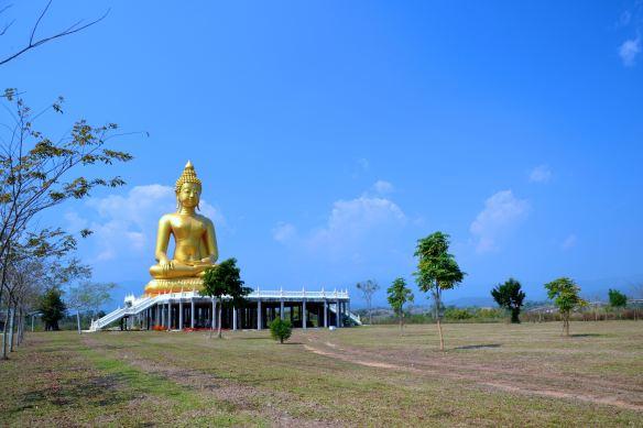 Groot Boeddhabeeld in het landschap